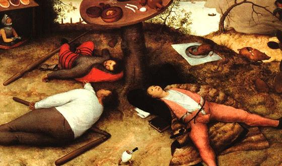 Bruegel e l'utopia del Paese di Cuccagna