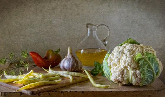 Cavolfiore in salsa d'acciuga