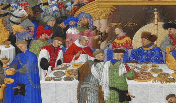 Nobili e re a tavola nel Medioevo